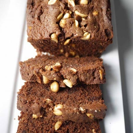 Salted Chocolate & Peanut Butter Loaf