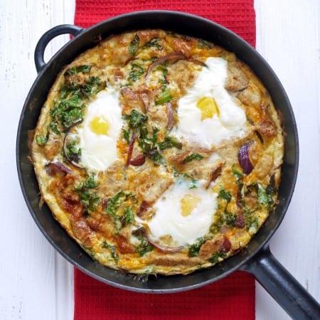 Chorizo and Kale Strata