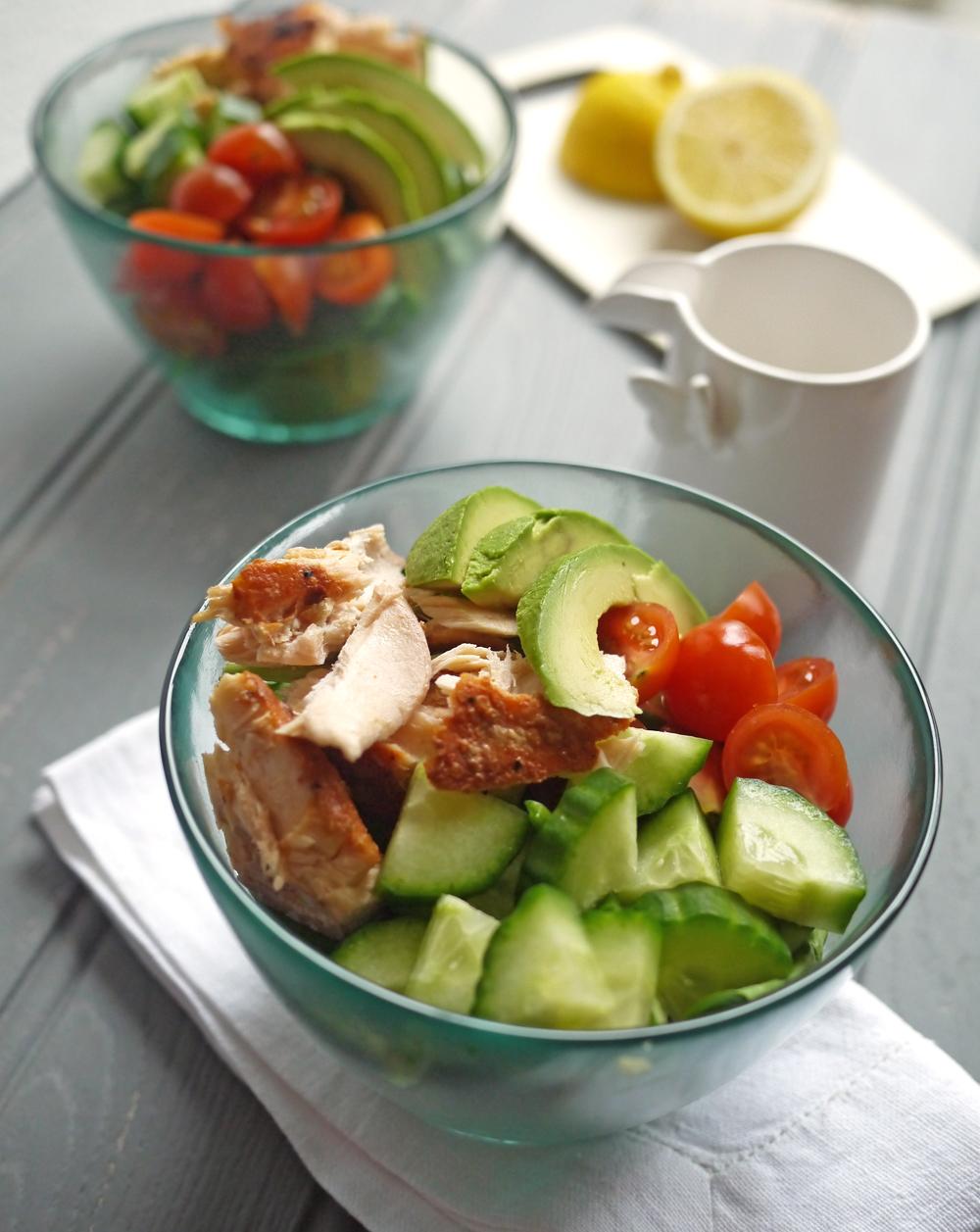 Salmon Salad with Lemon Tahini Dressing Front