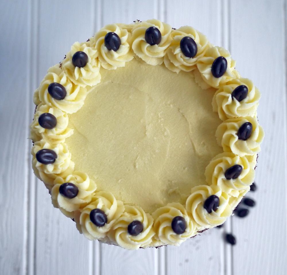 Cake Images Top View : Tiramisu Layer Cake - Taming Twins