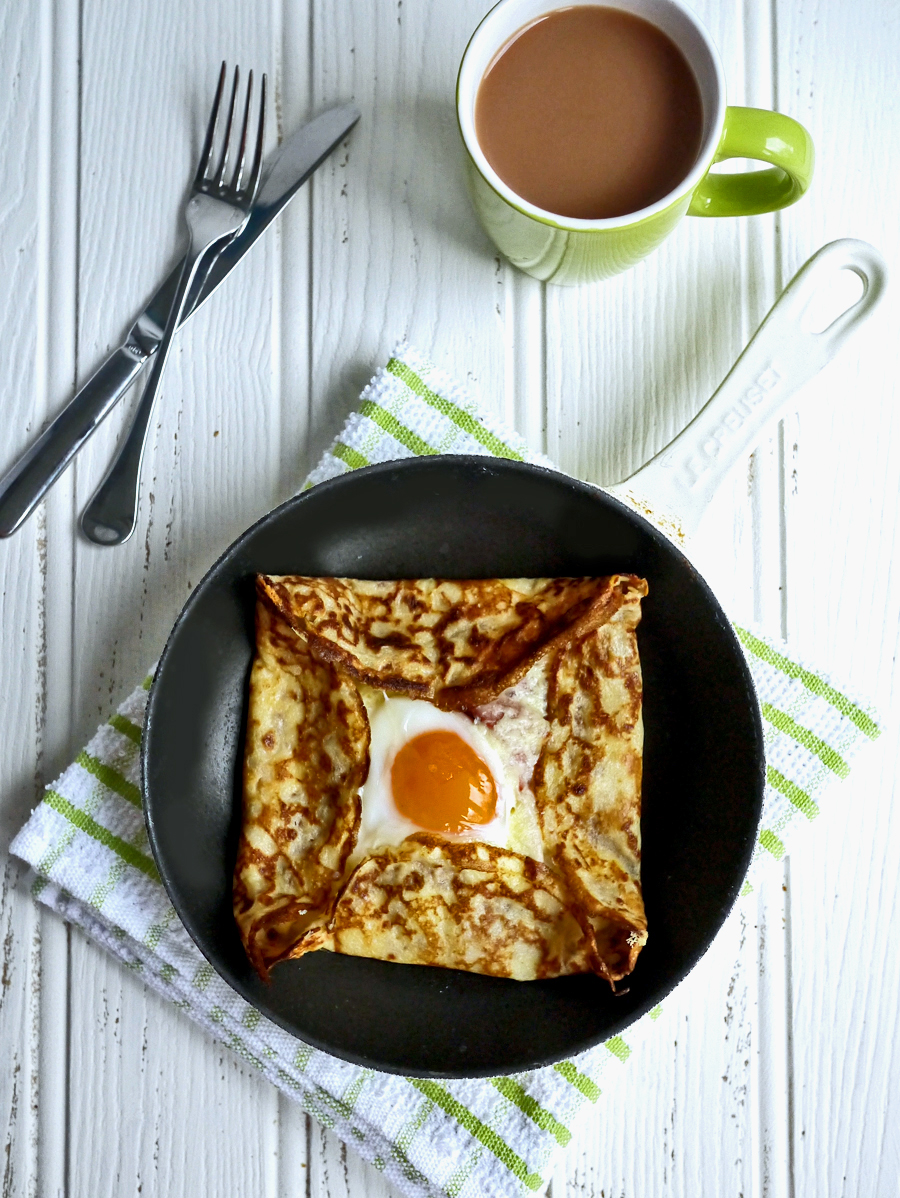 Ham, Egg and Cheese Pancake Crepes Recipe