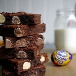 Filthy Fudgy Easter Creme Egg Brownies - The best Easter brownies you'll make this year!