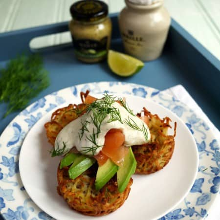 Oven Baked Brunch Rosti with Smoked Salmon