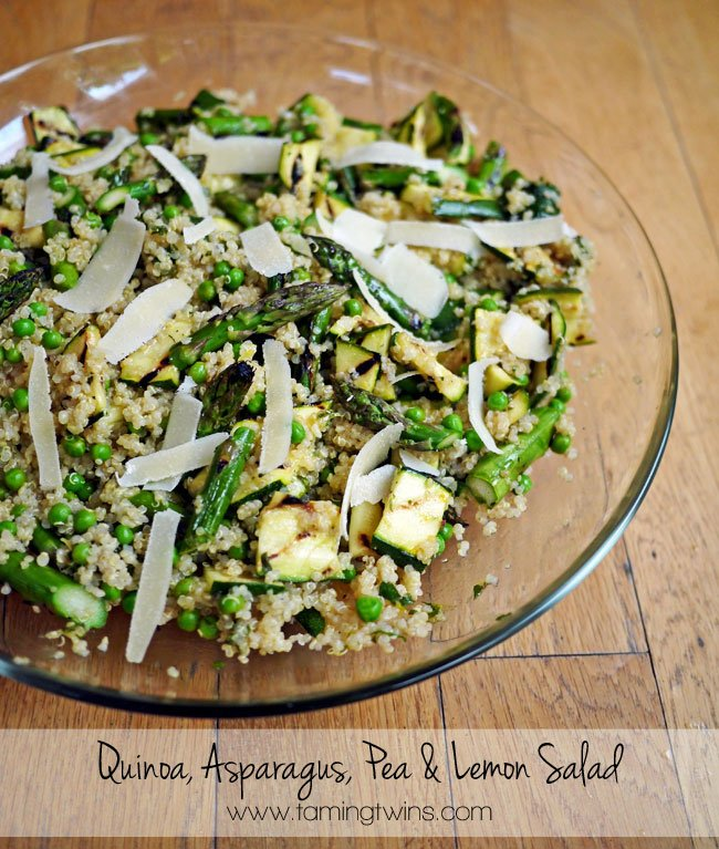 Quinoa Asparagus Pea and Lemon Salad