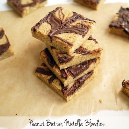 Peanut Butter Nutella Blondies