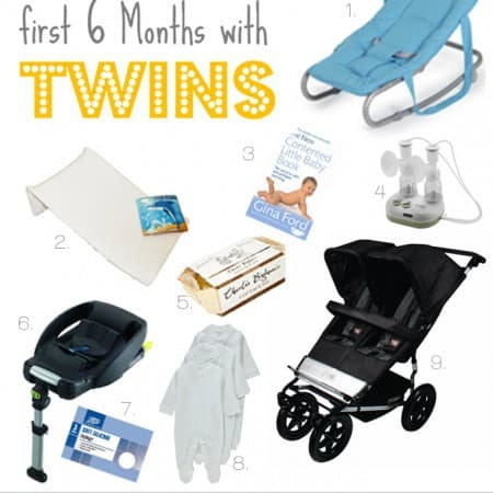 What to Buy to Survive the First 6 Months with Twins