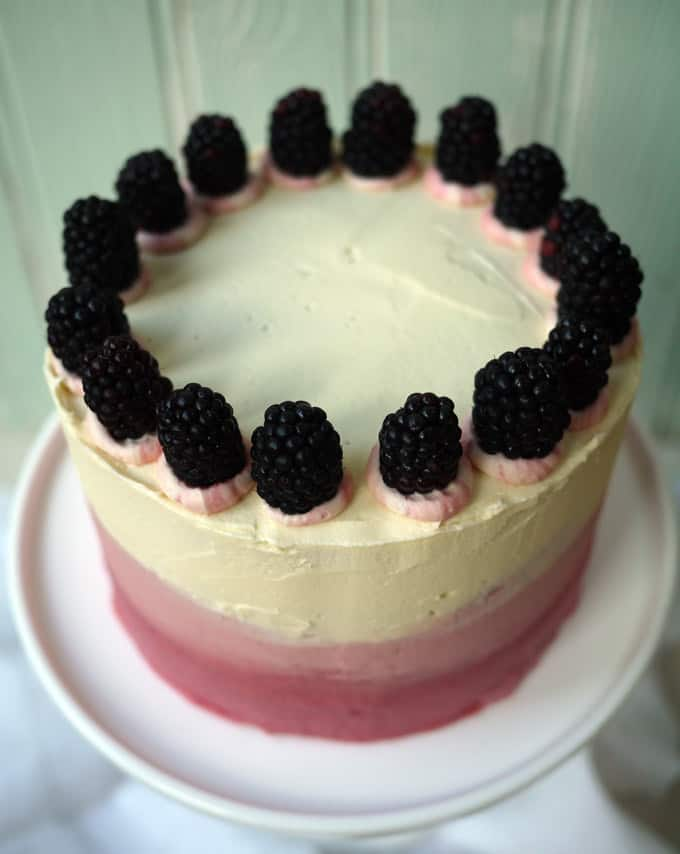 Blackberry and Elderflower Pimms Layer Cake