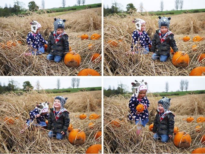 Hatton Country World Twins with Pumpkins
