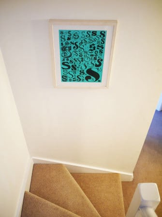 S Print on Stairs