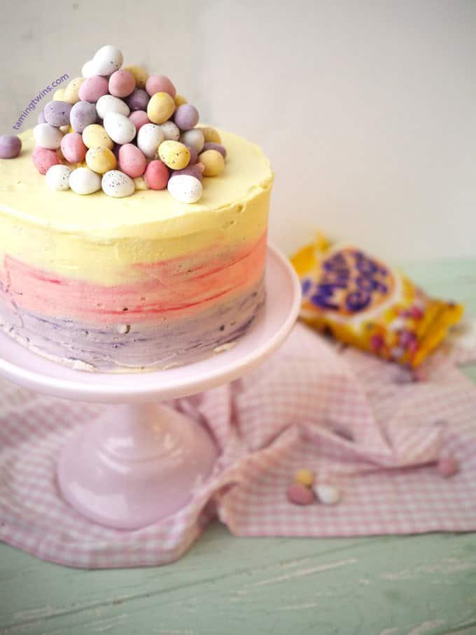 Easter Egg Layered Cake Recipe — Dishmaps