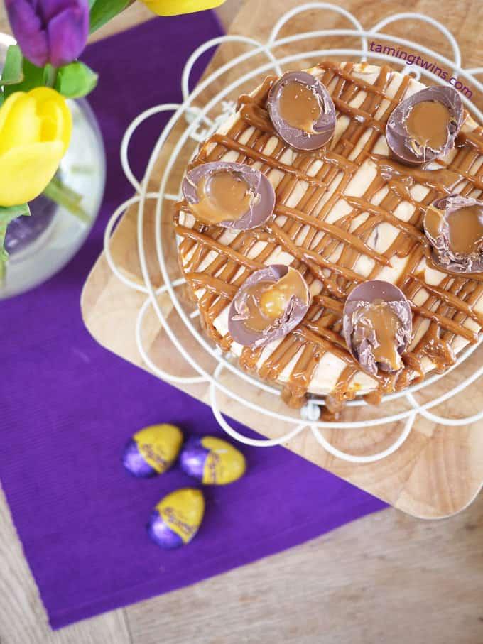 Cadbury's Caramel Egg Cheesecake