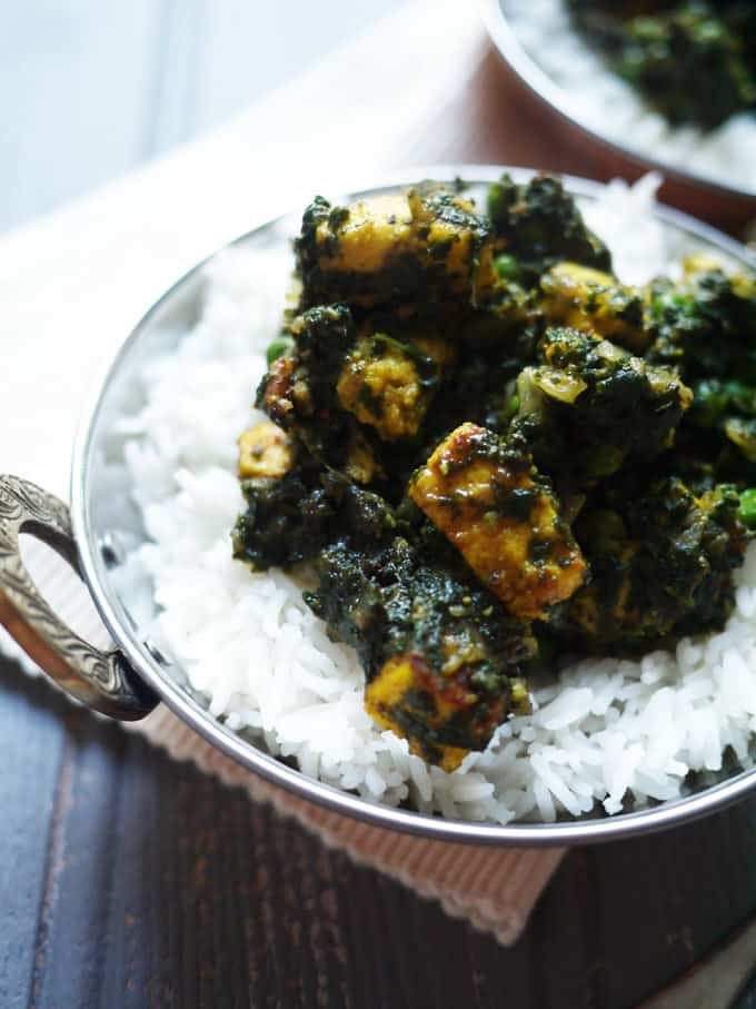 Palak Paneer - Slimming World friendly, low fat recipe for this favourite vegetarian curry.