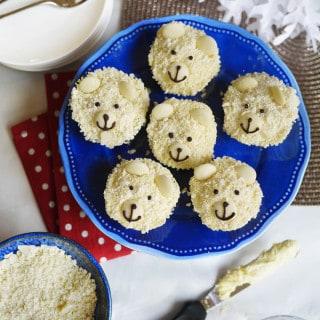 Polar Bear Cupcakes Recipe for Christmas