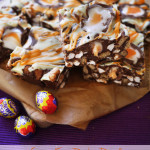 Cadbury Creme Egg Rocky Road - The ultimate Easter make! No bake, super easy and absolutely delicious. Great for bake sales, tea time treats and dessert. http://www.tamingtwins.com