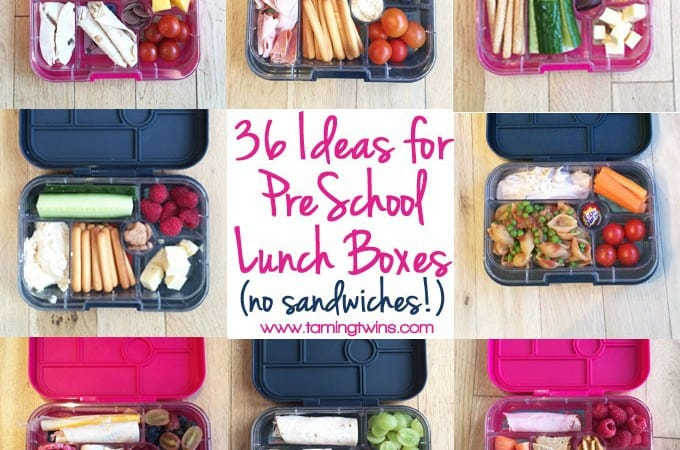 Lunchbox Ideas for PreSchoolers - with no boring sanwiches! Inspiration for more interesting pack ups for kids | http://www.tamingtwins.com