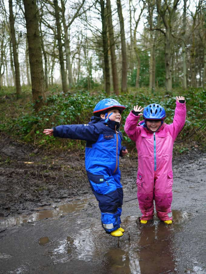 Save this post for those grey rainy days when you just DO NOT know what to do with the kids! Tips and ideas for playing outside even when the weather is terrible | http://www.tamingtwins.com