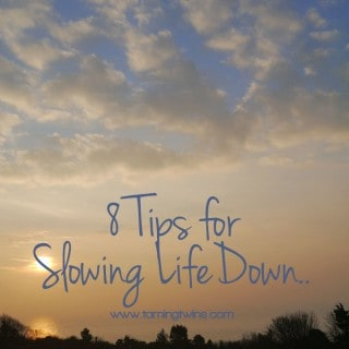 8 Tips for Slowing Life Down - The little things I'm doing to change the pace of life a live a slower life... | TamingTwins.com