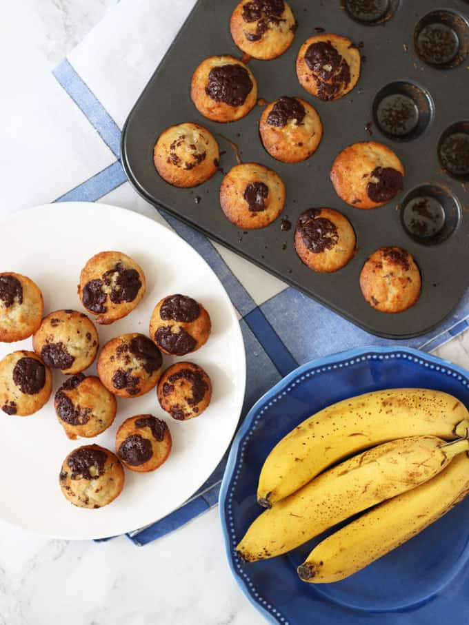 Mini Banana Muffin Recipe Taming Twins