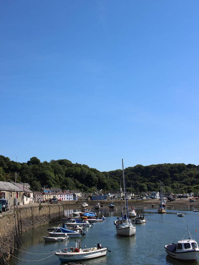 Fishguard Harbour - Discovering Pembrokeshire, Wales - 48 Hours with kids in this stunning part of the UK. Beautiful coastlines, beaches, lighthouse and views, with amazing food and blue skies. What more could you want for a holiday?