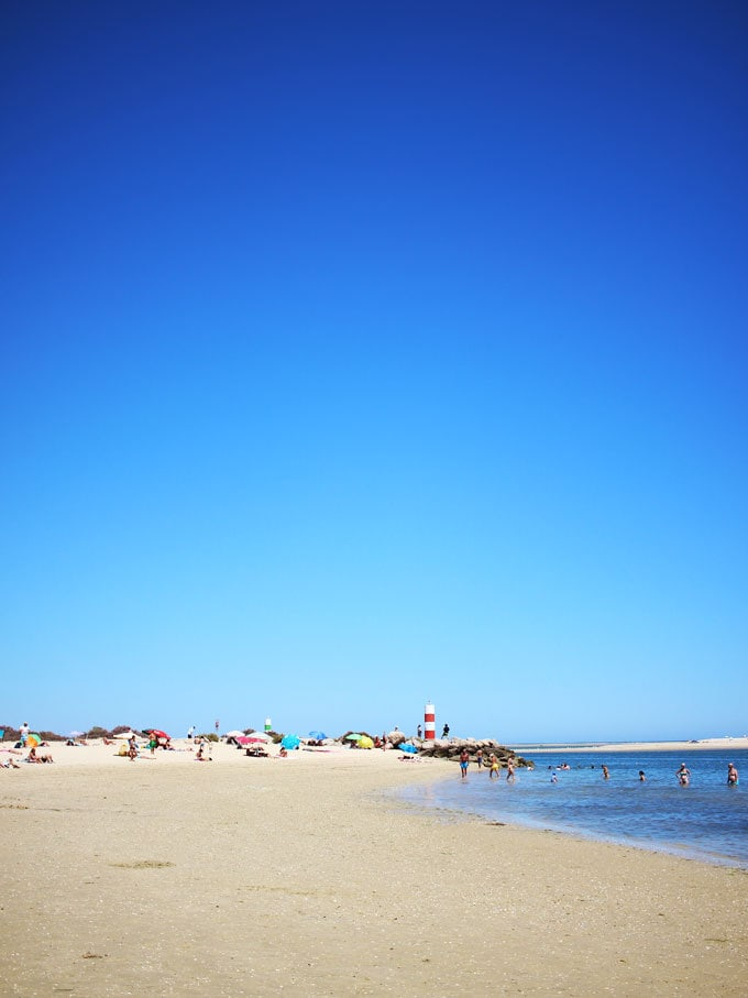 FUZETA Beach - Stunning food, beautiful interiors and ultimate holiday relaxation in just 48 hours? Welcome to the Eastern Algarve. A stay at The Casa, with adventures in Tavira, Fuzeta and Olhao. Stunning beaches and a perfect Europe vacation.