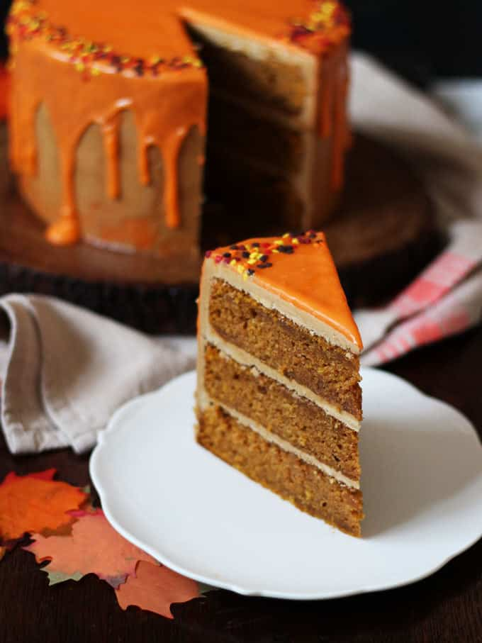 Double Chocolate Pumpkin Cake With Pumpkin Spice ...