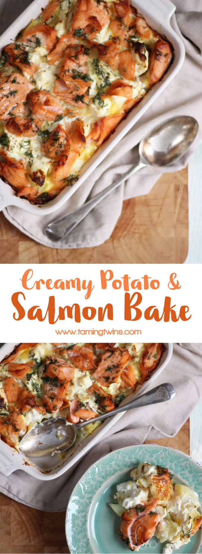 Creamy salmon bake recipe with norwegian salmon taming twins a delicious warming comfort food creamy salmon bake carb fuelled cosiness in a ccuart Image collections