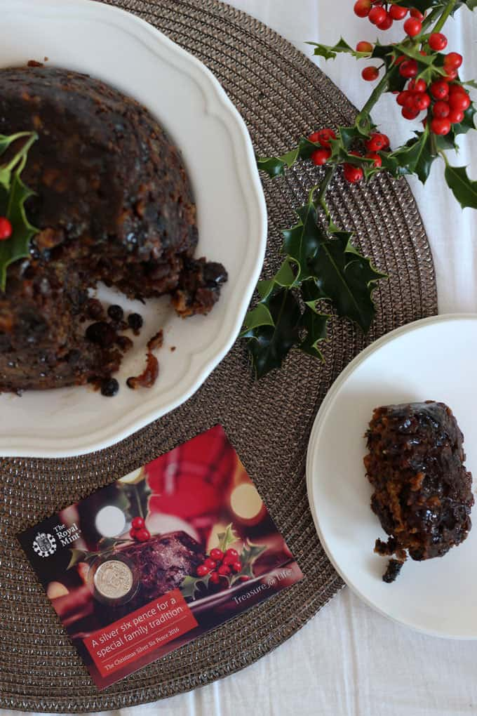 The ultimate traditional dessert, the Royal Mint Christmas Pudding recipe. The perfect festive steamed British pudding, complete with silver sixpence. Get cooking with the family on Stir Up Sunday!
