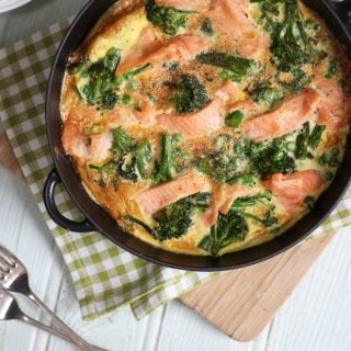 Smoked Salmon and Broccoli Frittata Recipe with Norwegian Salmon