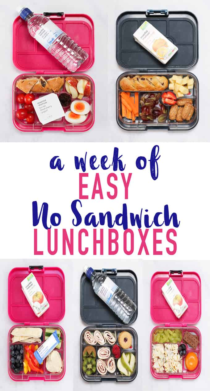 A week of no sandwich lunchboxes for kids (or grown ups!) packed in our favourite YumBoxes.