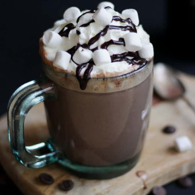 Hot Chocolate With Chocolate Liqeuer