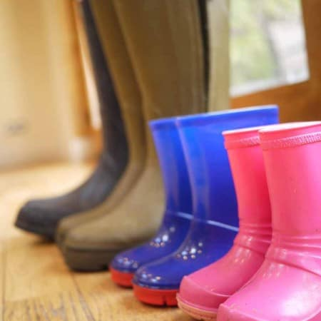A Row of Wellies