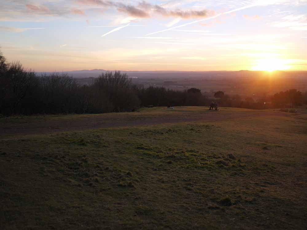 Sunset over the Clent Hills