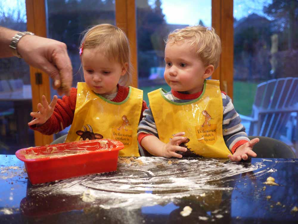 Cooking with Twins Toddlers Banana Loaf