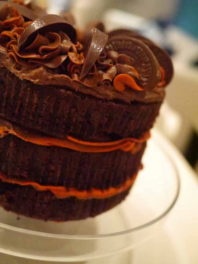 Fancy Dark Chocolate Cake