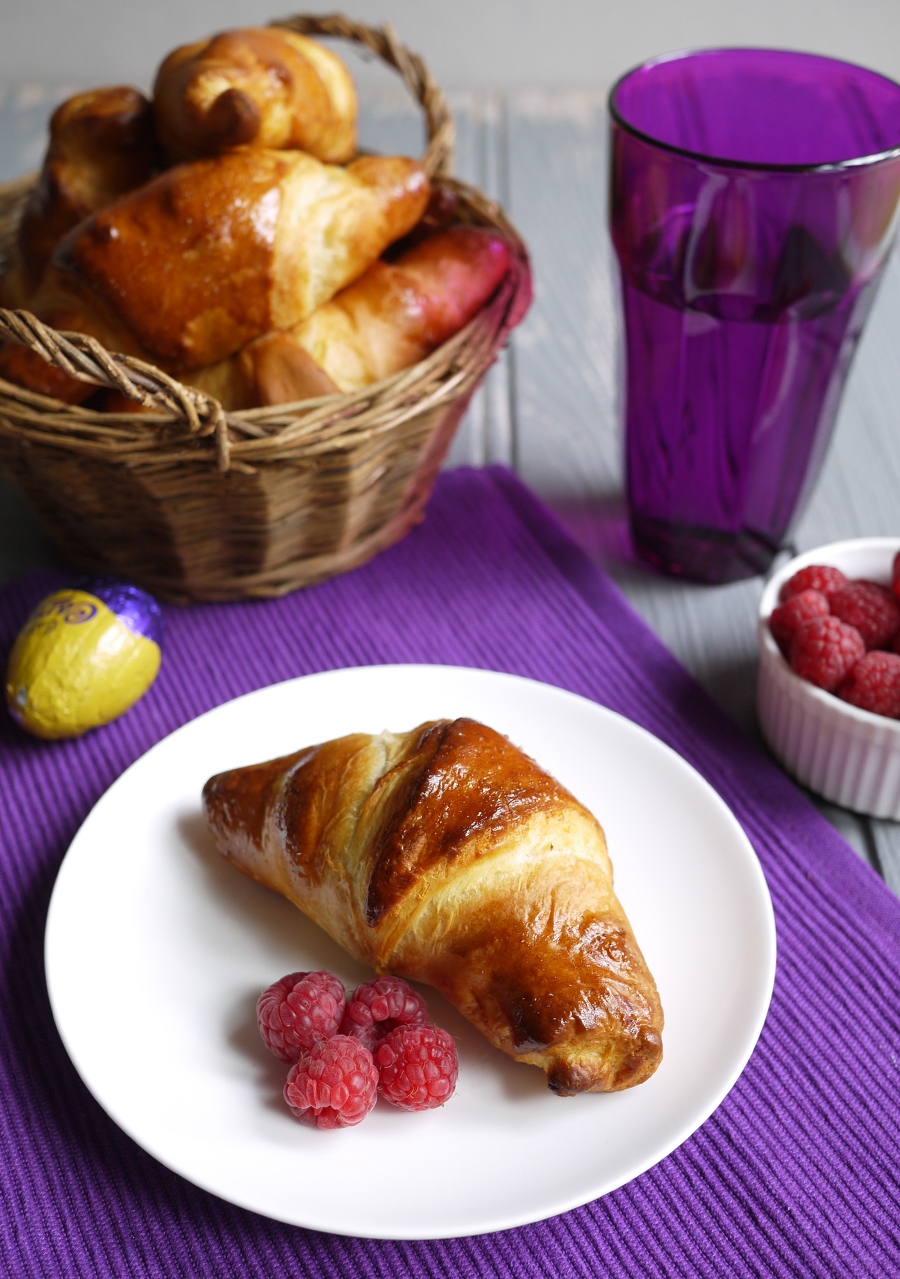 Cadbury Caramel Egg Stuffed Easter Croissants
