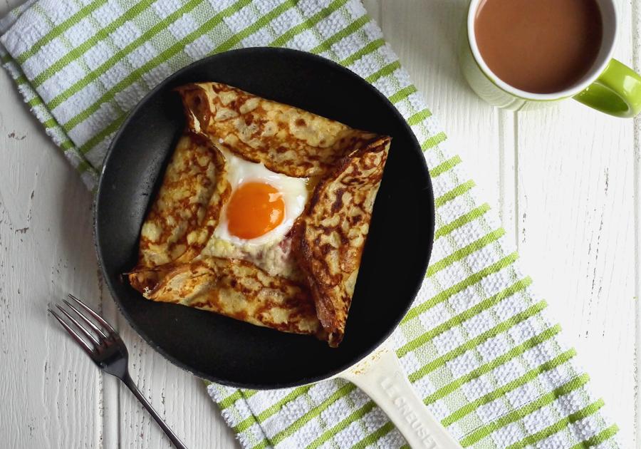 Ham, Egg and Cheese Pancake Crepes Recipe
