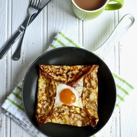 Ham, Egg and Cheese Crêpes