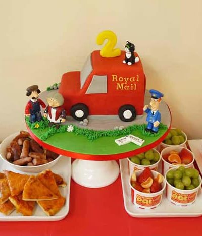 Postman Pat Birthday Party Food Inspiration Dessert Table