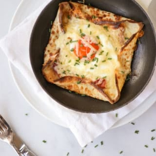 Savoury Pancakes with Ham, Egg and Cheese