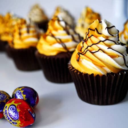 Cadburys Creme Egg Stuffed Cupcakes