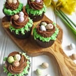 Chocolate Easter Egg Nest Cupcakes