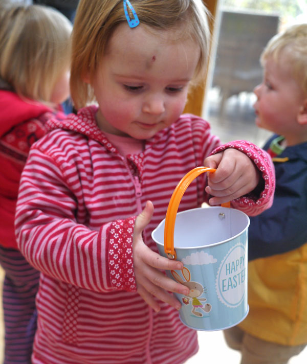 Easter Egg Hunt with Toddlers