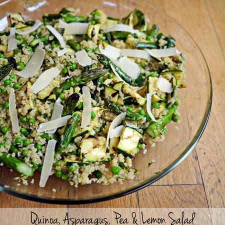 Quinoa, Asparagus, Pea and Lemon Salad