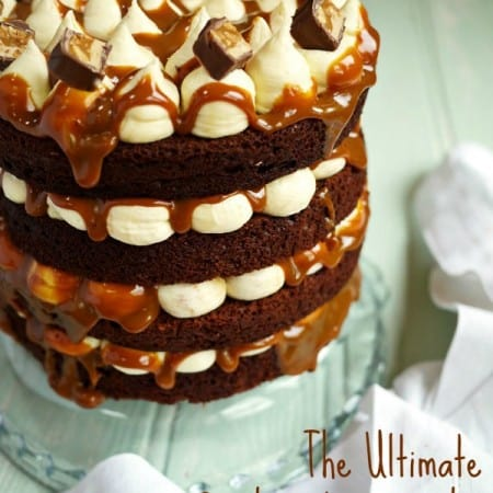 The Ultimate Snickers Layer Cake