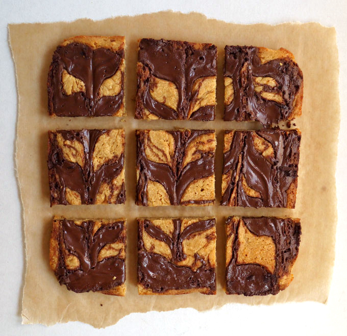 Peanut Butter Nutella Blondies