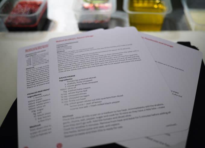 Tom Aikens Recipe Cards