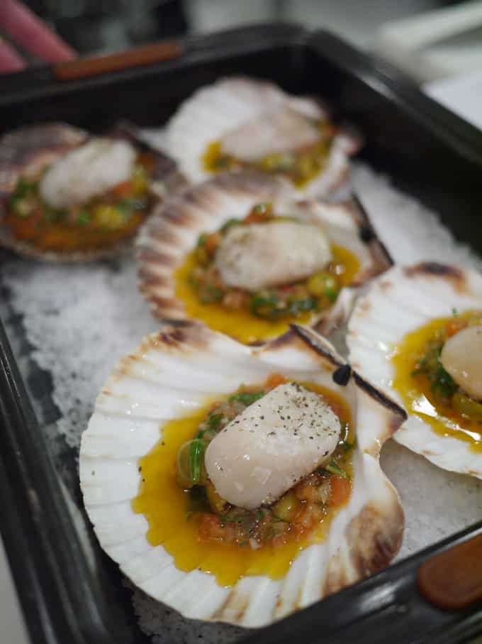 Scallops with Sauce Vierge