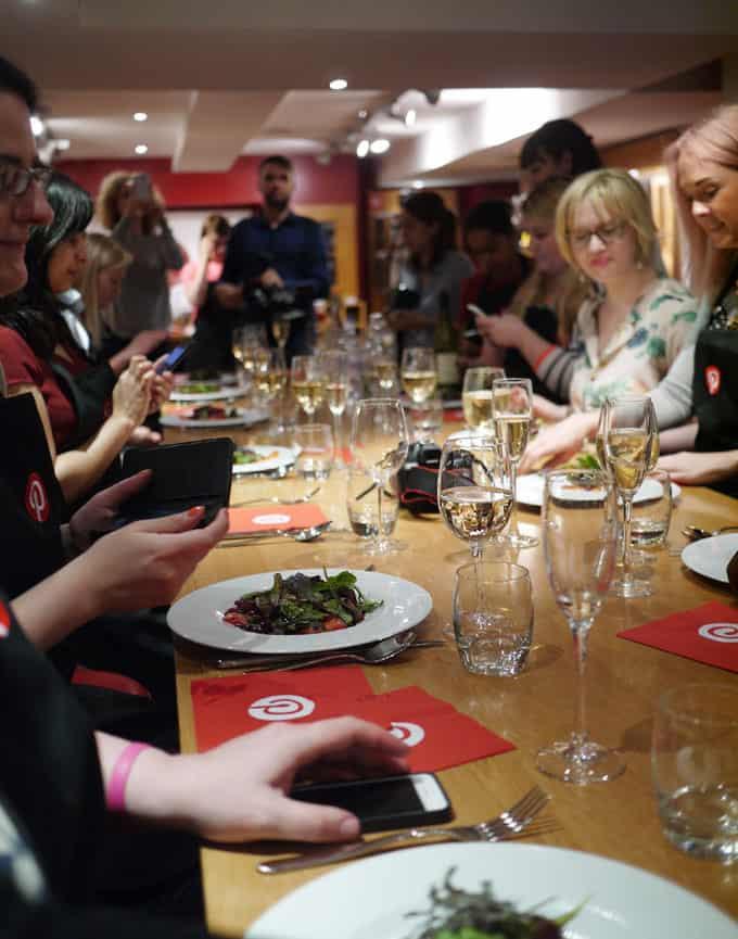 L'atelier des Chefs table with Pinterest UK
