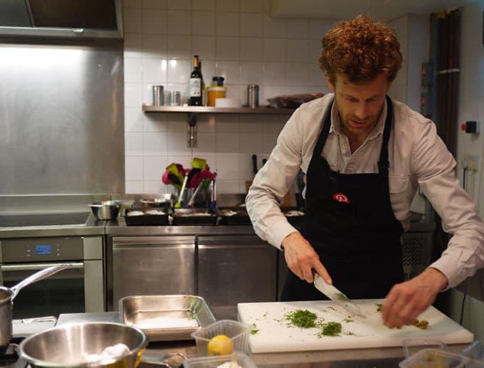 Tom Aikens Chopping Lemon