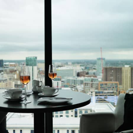 Champagne Afternoon Tea at Laurent Perrier Lounge The Cube Birmingham